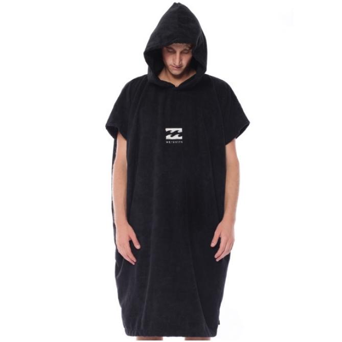 Billabong Vader Mens Hoodie Towelling Robe Black