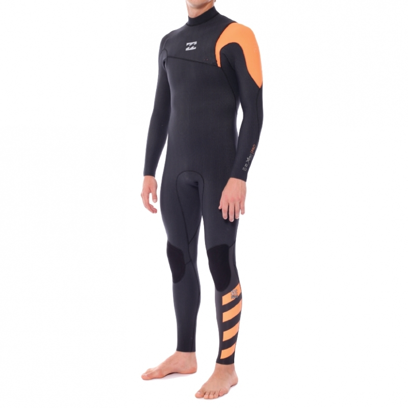 Billabong 4/3mm Furnace Pro Zipperless Wetsuit Black Orange