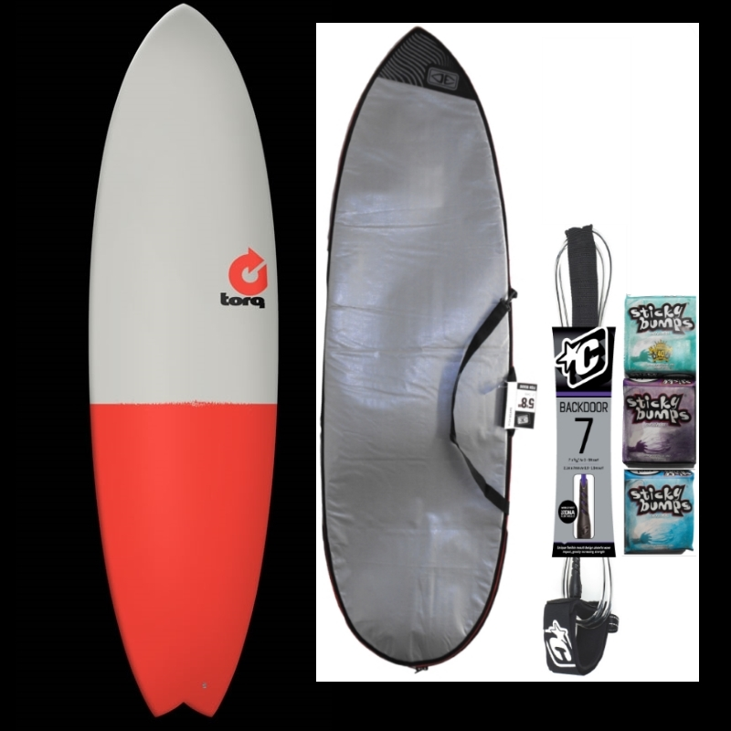 Torq 6ft10 Fish Surfboard Package Fifty Fifty
