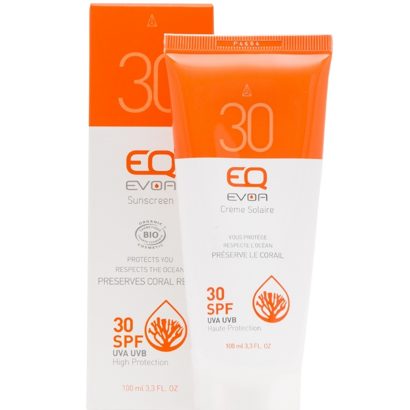 EQ Evoa Organic Sunscreen SPF30 100ml