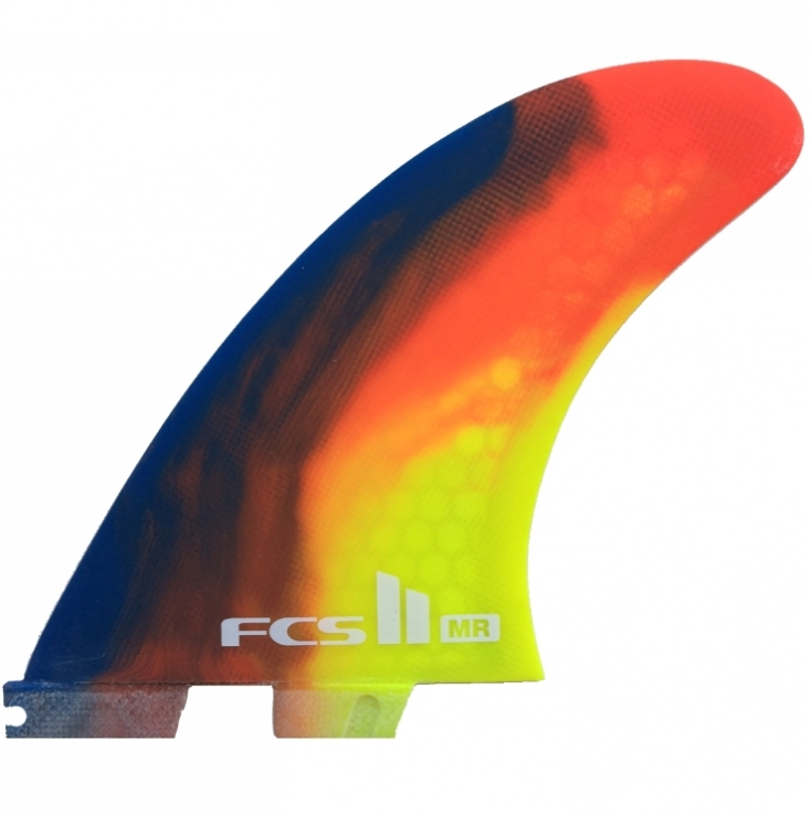FCS II MR PC Surfboard Fins Colour Swirl
