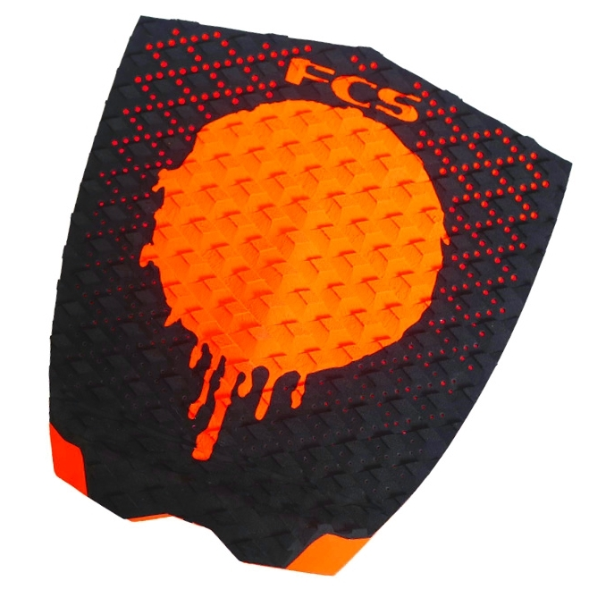 FCS Gabriel Medina Surfboard Tail Pad Black Orange
