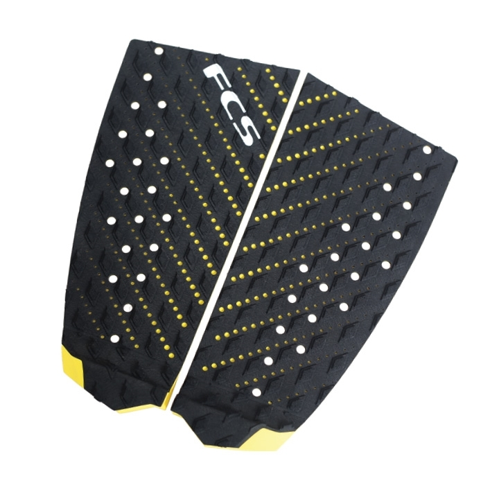 FCS T2 Surfboard Tail Pad Black Yellow