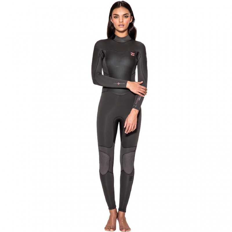 Billabong 3/2 Ladies Synergy Wetsuit Off Black Pink BZ