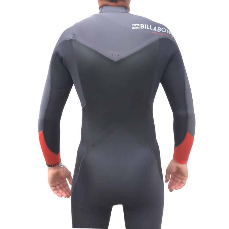 Billabong 5 4 Mens Absolute Comp Wetsuit Chest Zip Orange 6fde8f6b7
