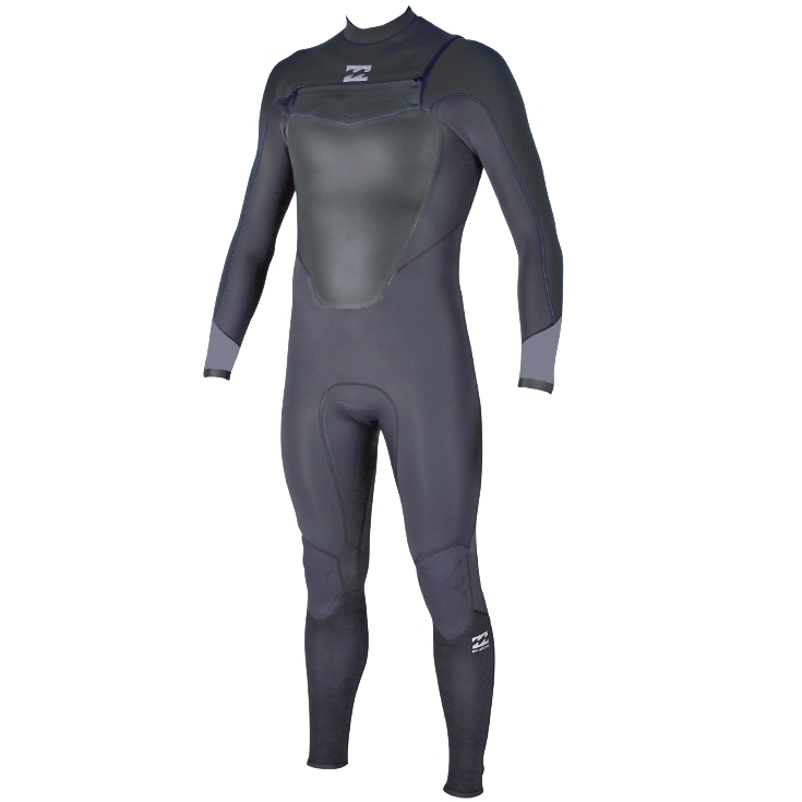 Billabong 5/4 Mens Absolute Comp Wetsuit Chest Zip Graphite