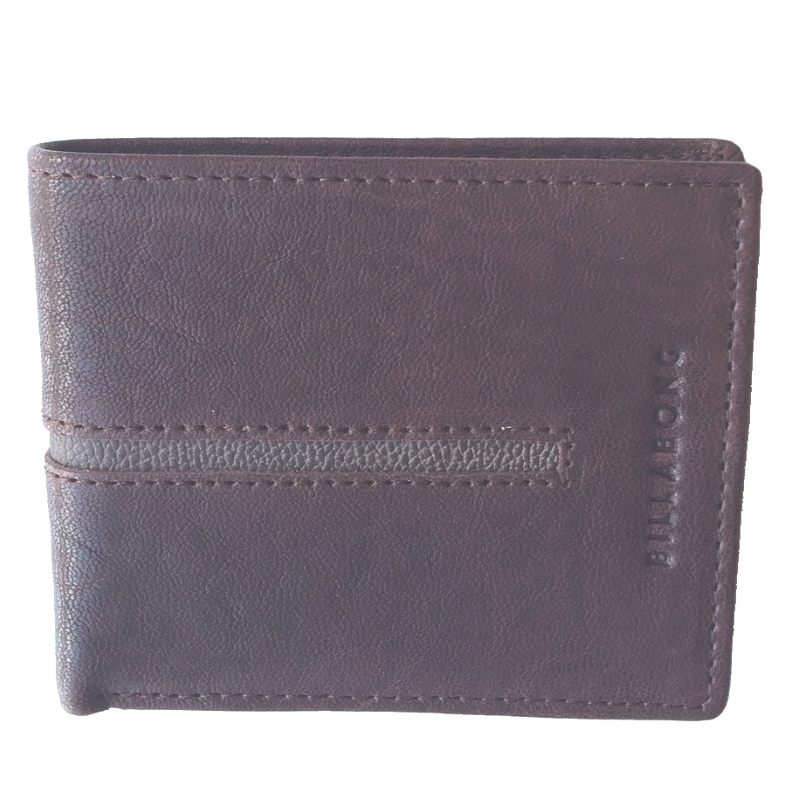 Billabong Empire Snap Leather Wallet Chocolate Brown