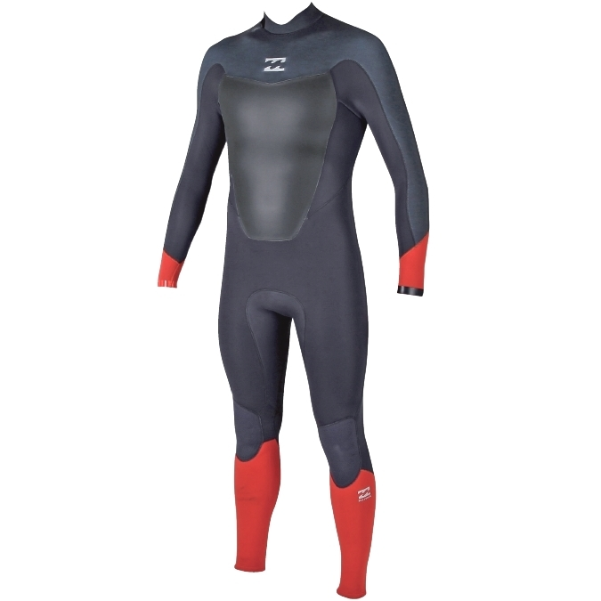 Billabong 5/4 Mens Absolute Comp Wetsuit Back Zip Orange