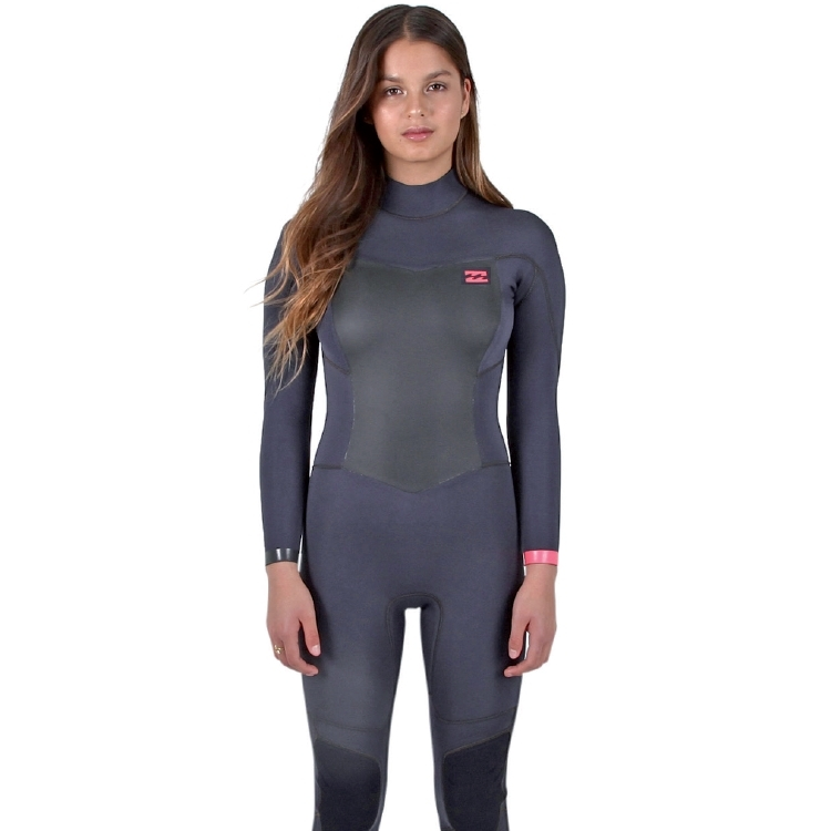 Billabong 5/4mm Womens Synergy Wetsuit Back Zip Black Sand