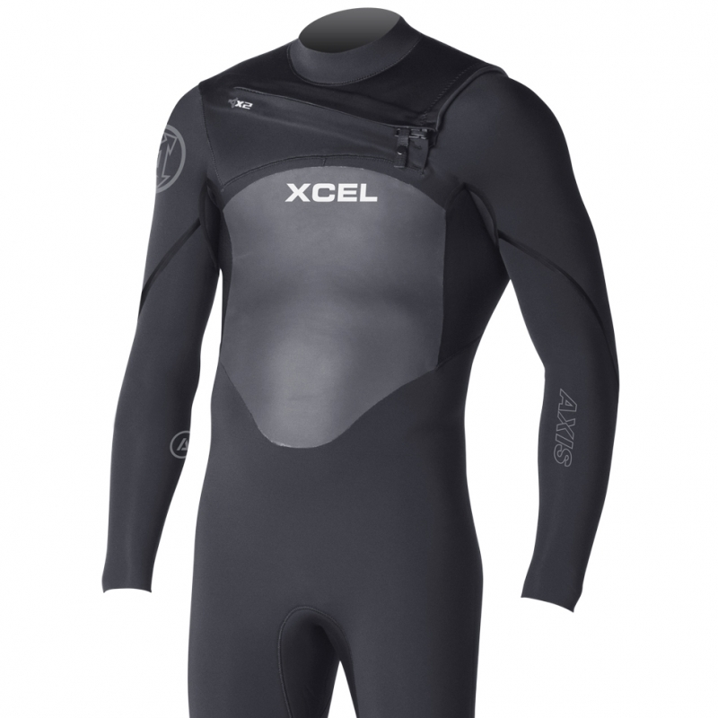Xcel 5/4mm Axis X2 Wetsuit Black Chest Zip