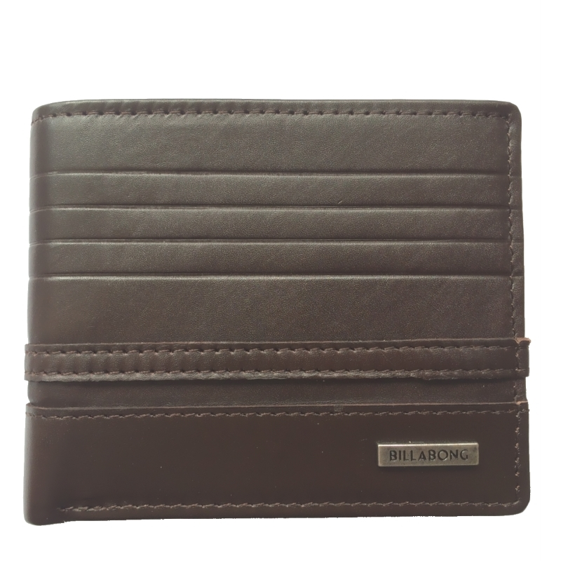 Billabong Phoenix Snap Leather Wallet Chocolate Brown