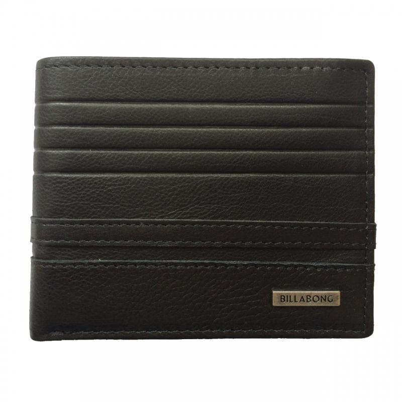 Billabong Phoenix Snap Leather Wallet Black