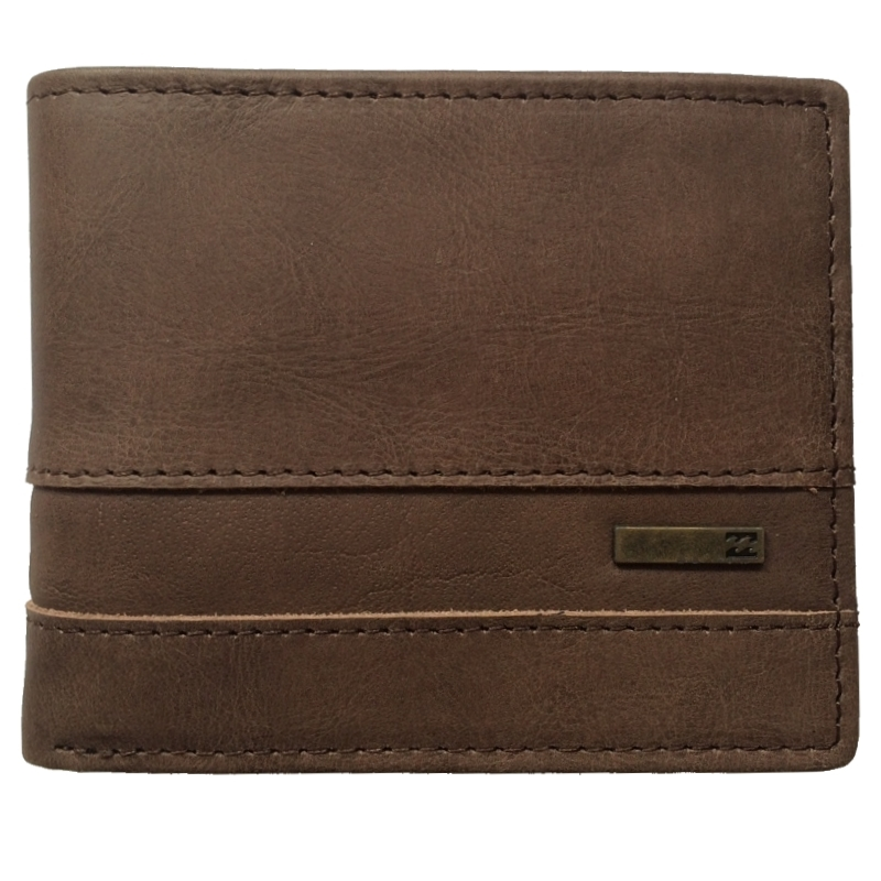 Billabong Highway Leather Wallet Chocolate Brown