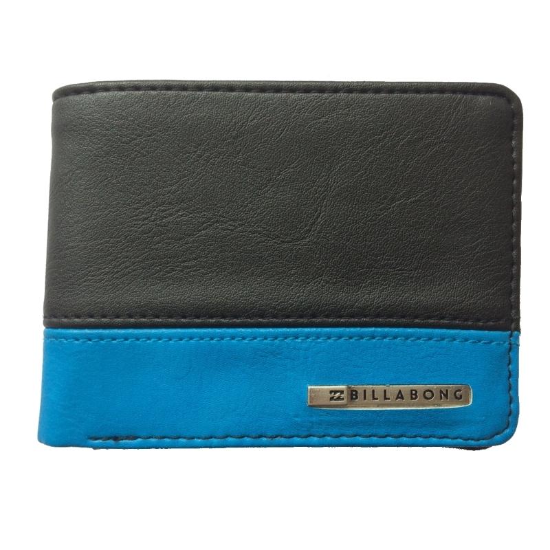 Billabong Dimension Mock Leather Wallet Black Blue