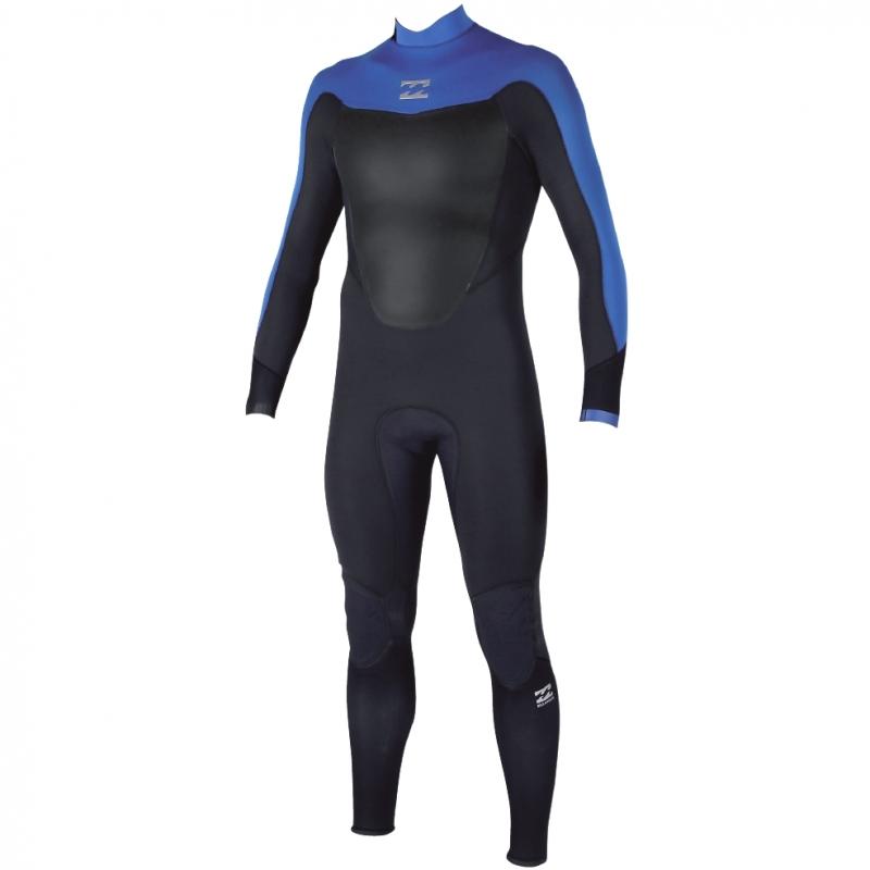 Billabong 5/4 Mens Absolute Comp Wetsuit Back Zip Ocean Blue