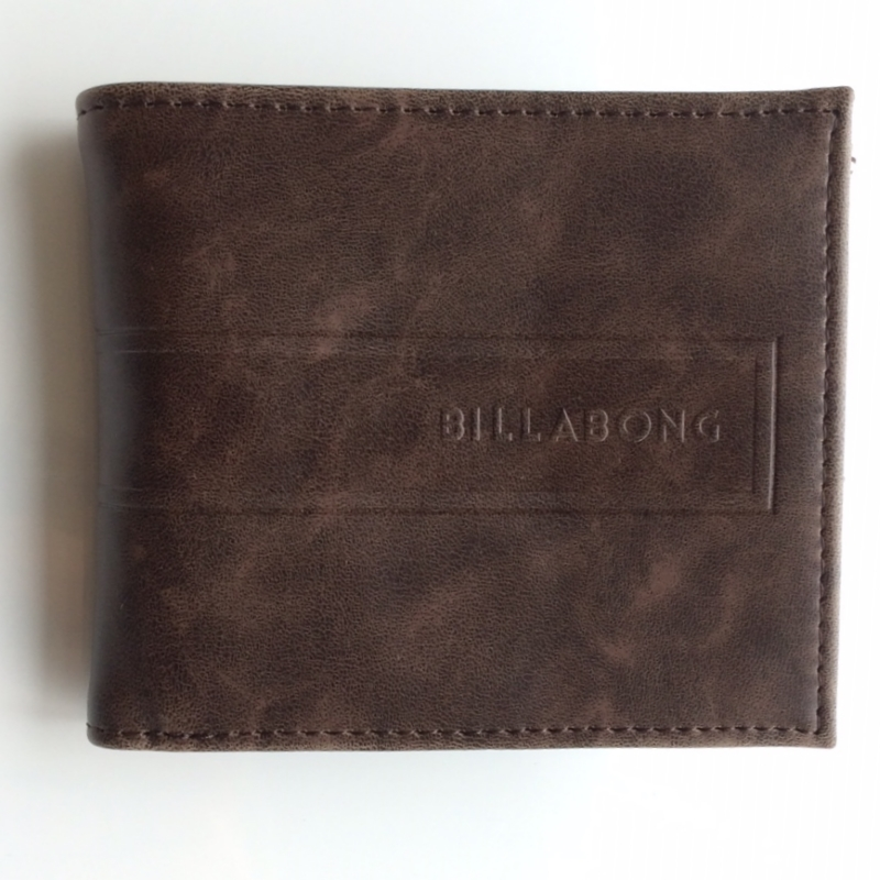 Billabong Clay Mock Leather Wallet Chocolate Brown