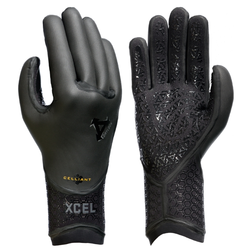 Xcel 3mm TDC Drylock 5 Finger Wetsuit Gloves
