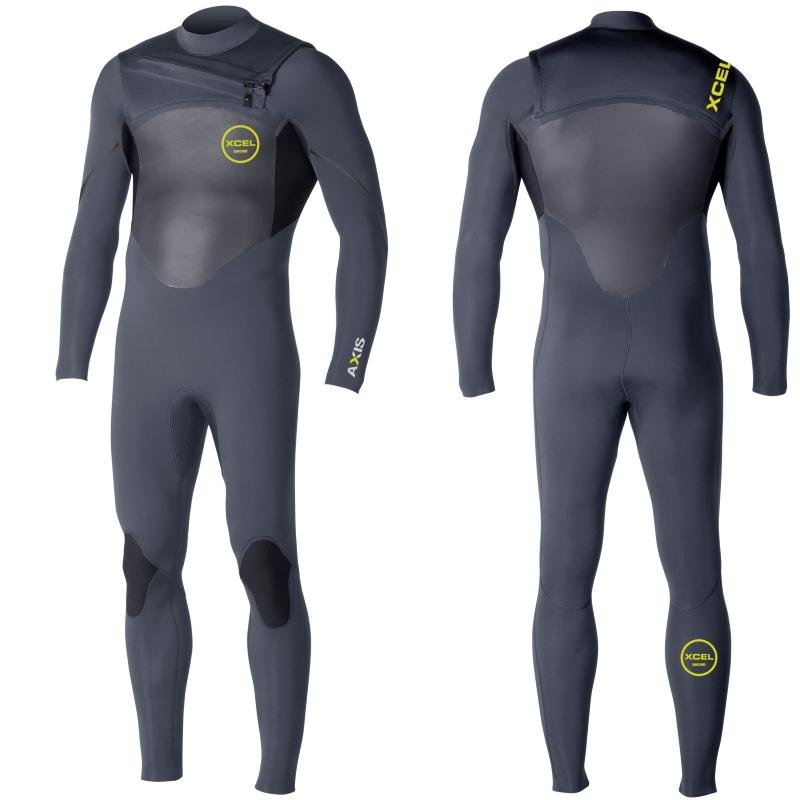 Xcel 5/4mm Axis Wetsuit Black Chest Zip S Seal