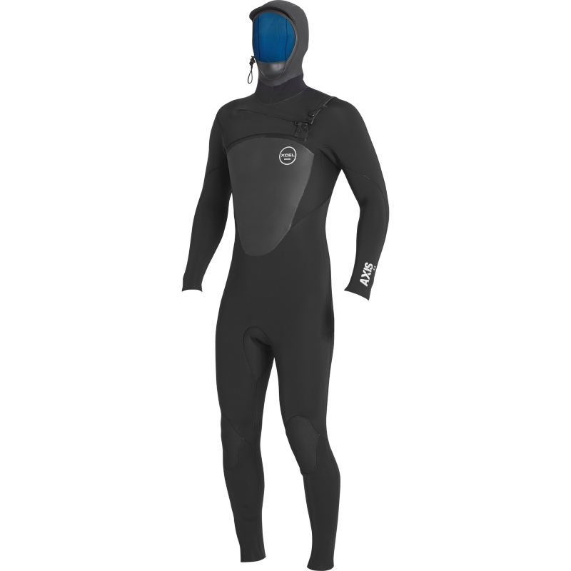 Xcel 5/4mm Axis Hooded Wetsuit Black Chest Zip
