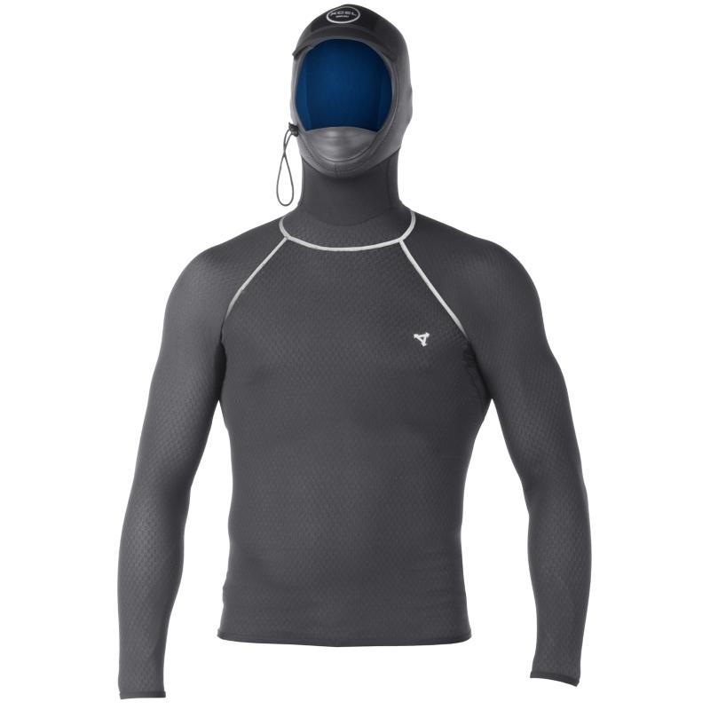 Xcel Drylock Hooded Smart Fibre Rash Vest Long Sleeved