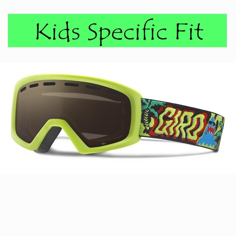 Giro Rev Youth Ski Goggles Lime Shark Party