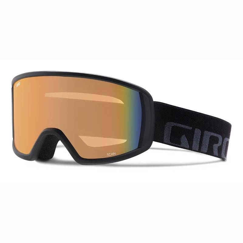 3860ac2d3e03 Giro Scan Ski Goggles Black Wordmark Persimmon Blaze EXV