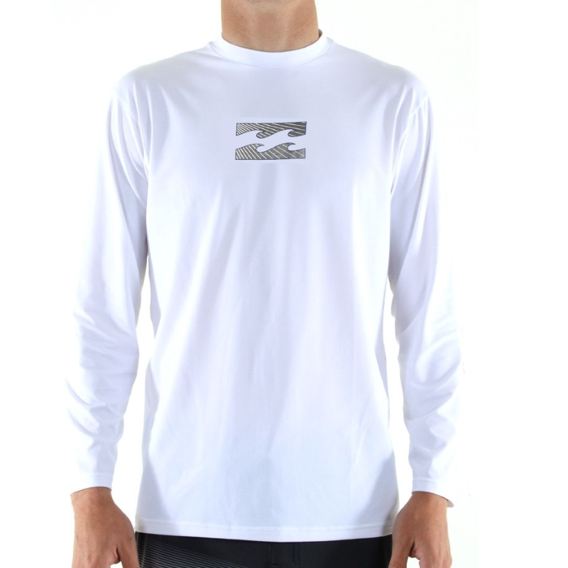 Billabong Amphibious LS White Surf T Shirt