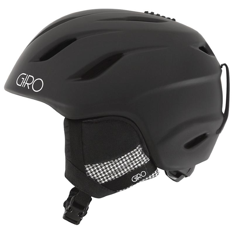 Giro Era Ladies Ski Snowboard Helmet Matt Black Houndstooth