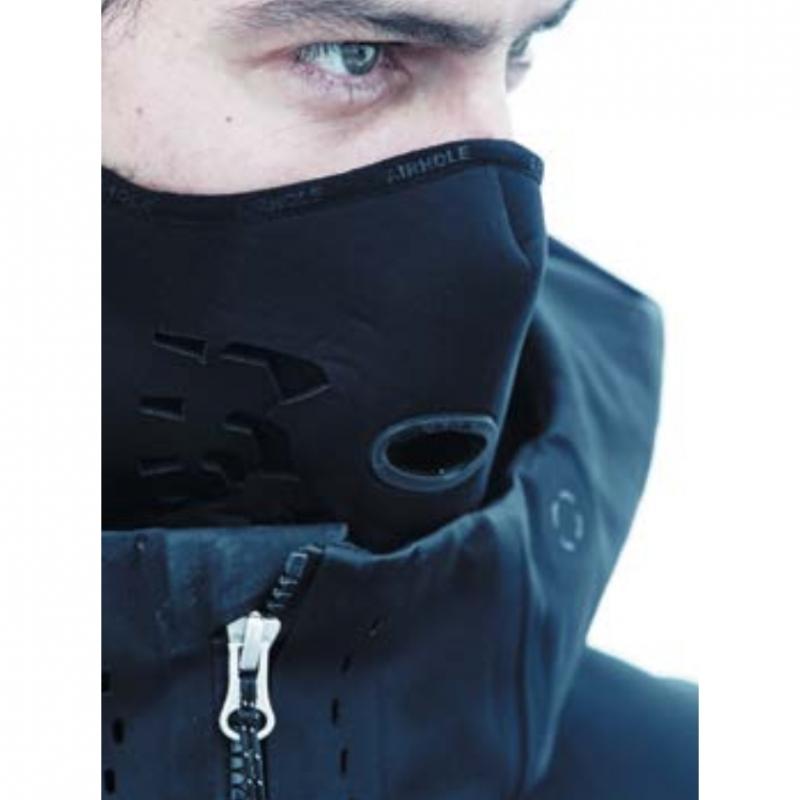 Airhole Ski Snowboard Mask Standard Wing Black Neoprene