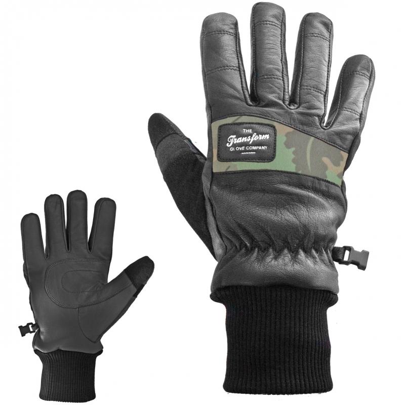 Transform Photo Incentive Leather Snowboard Gloves Vader Black