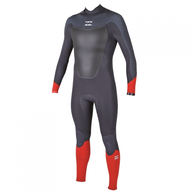 Billabong 3/2mm Mens Absolute Comp Wetsuit Back Zip Orange