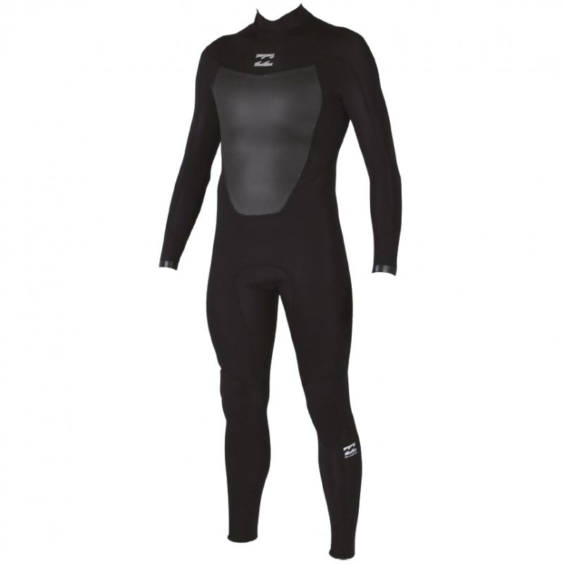 Billabong 3/2mm Mens Absolute Comp Wetsuit Back Zip Black