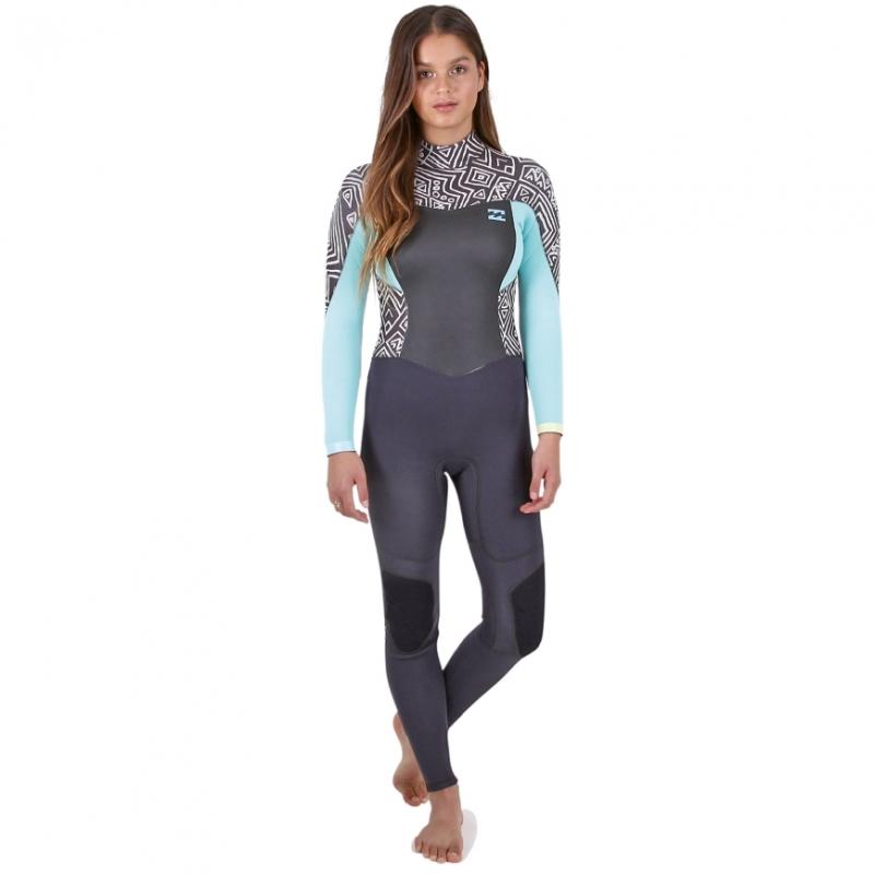 Billabong 3/2 Ladies Synergy Wetsuit Geo Diamond Back Zip