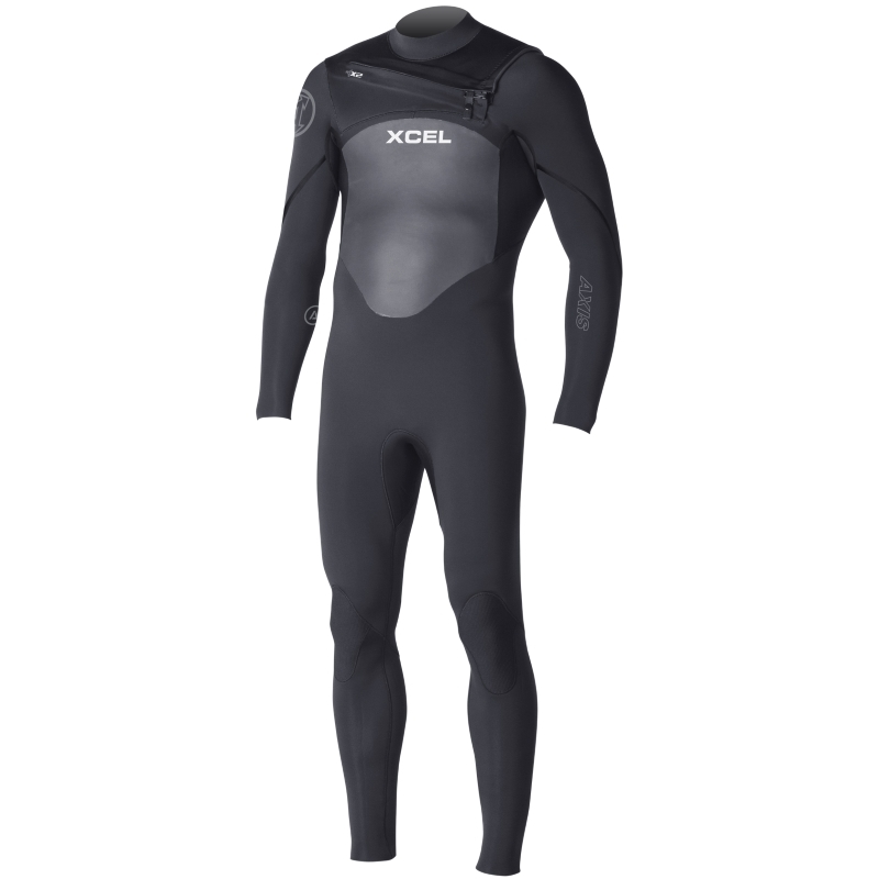 Xcel 4/3mm Axis Wetsuit Black Chest Zip S Seal