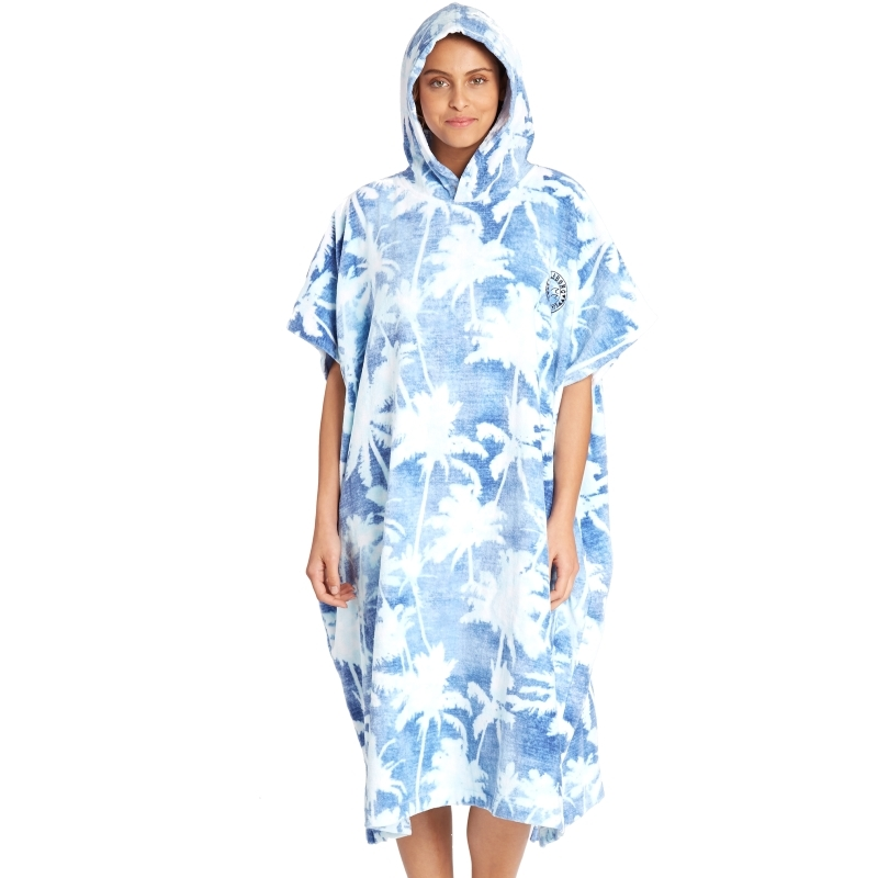Billabong Womens Indigo Hoodie Beach Changing Robe