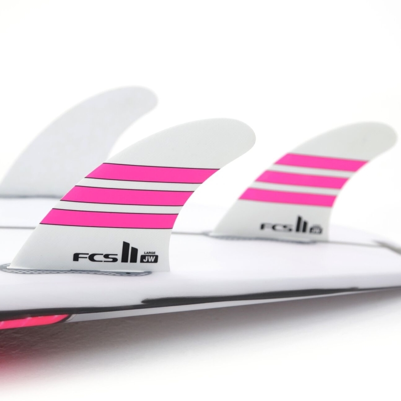 FCS II JW PG Tri Set Surfboard Fins Limited Edition Pink