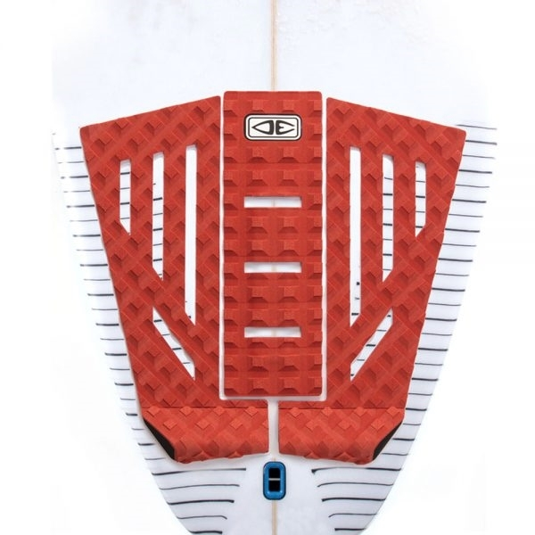 Ocean Earth Shacked 3 Piece Surfboard Tail Pad Red