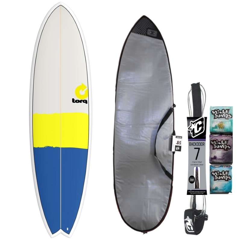Torq 6ft10 Fish Surfboard Package New Classic