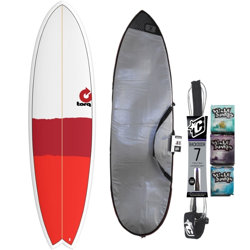 Torq 6ft6 Fish Surfboard Package New Classic