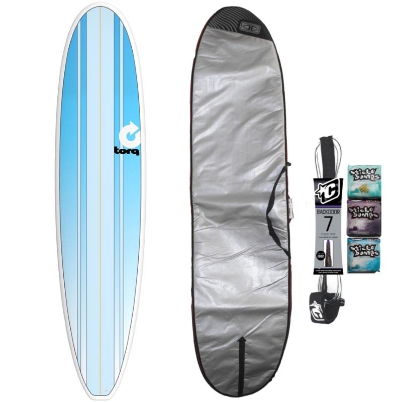 Torq 8ft Longboard Surfboard Package New Classic