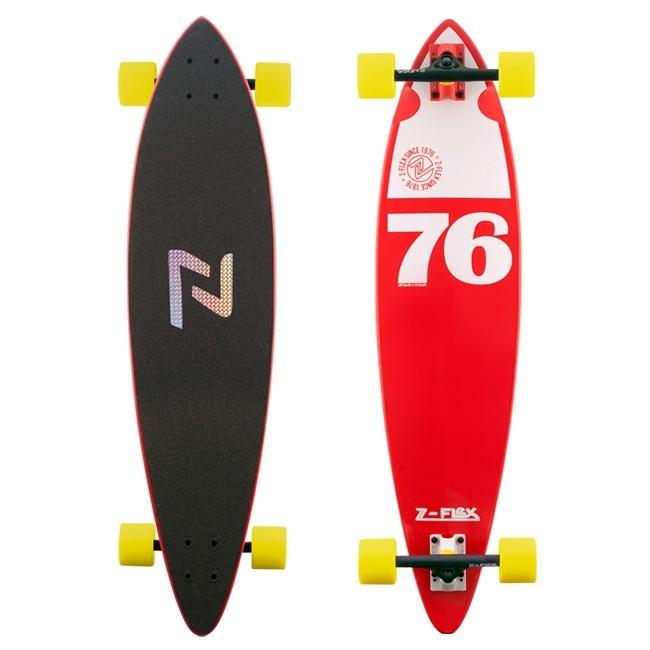Z-Flex Pintail Longboard skateboard 38 Inch Red