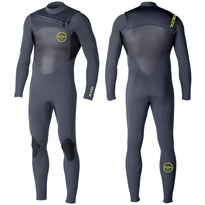 Xcel 4/3mm Axis Wetsuit Graphite S Seal