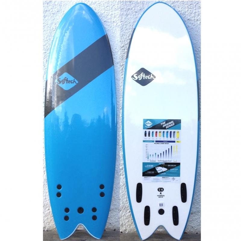 Softech Handshaped SB Quad 5ft4 Fish Surfboard