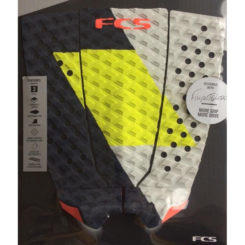 FCS Filipe Toledo Surfboard Tail Pad Coal Lime
