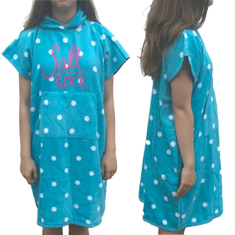 Saltrock Girls Starry Eyed Beach Changing Robe Aqua 924e80546