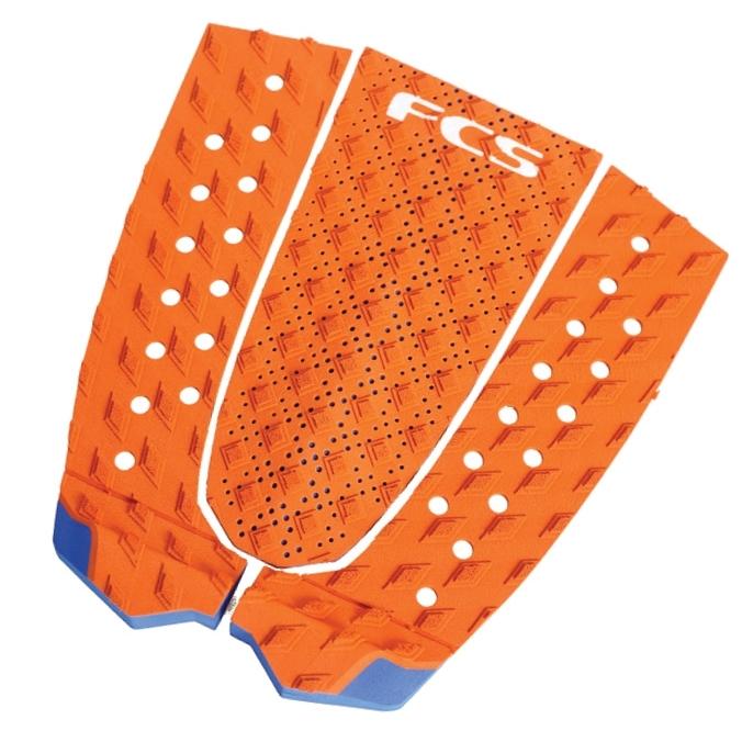 FCS T3 Surfboard Tail Pad Orange Blue