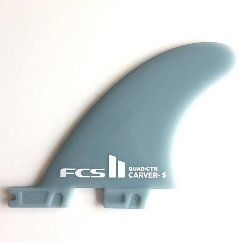 FCS II Carver Quad Rear Surfboard Fins Glass Flex Small