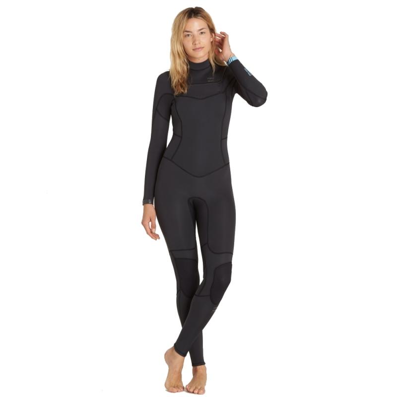 7135ab5a6a Billabong 5 4mm Womens Synergy Wetsuit Chest Zip Black Sands 3955