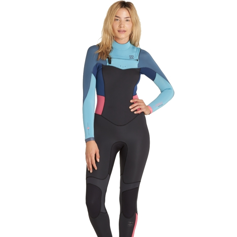 90053535e2 Billabong 5 4mm Womens Synergy Wetsuit Chest Zip Agave 4148