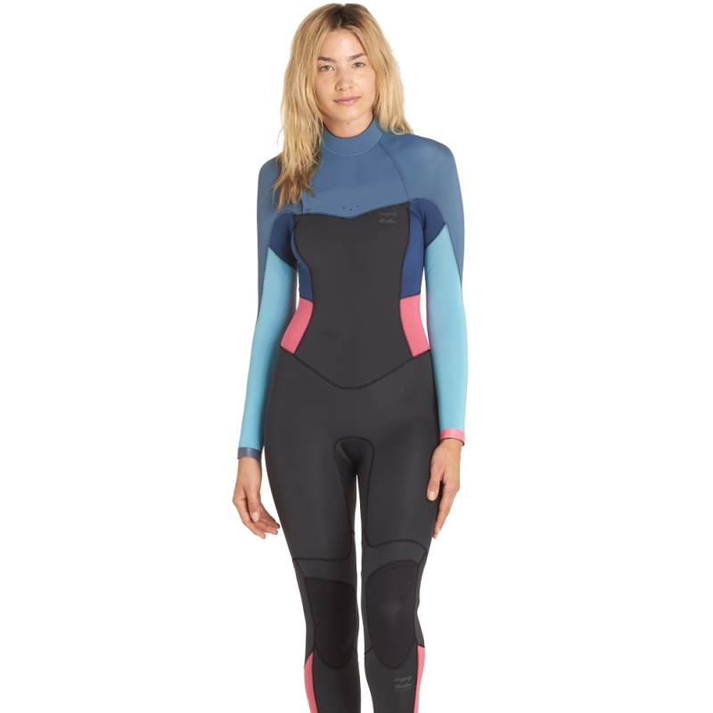 dcbd8760be Billabong 5 4mm Womens Synergy Wetsuit Back Zip Agave 4148